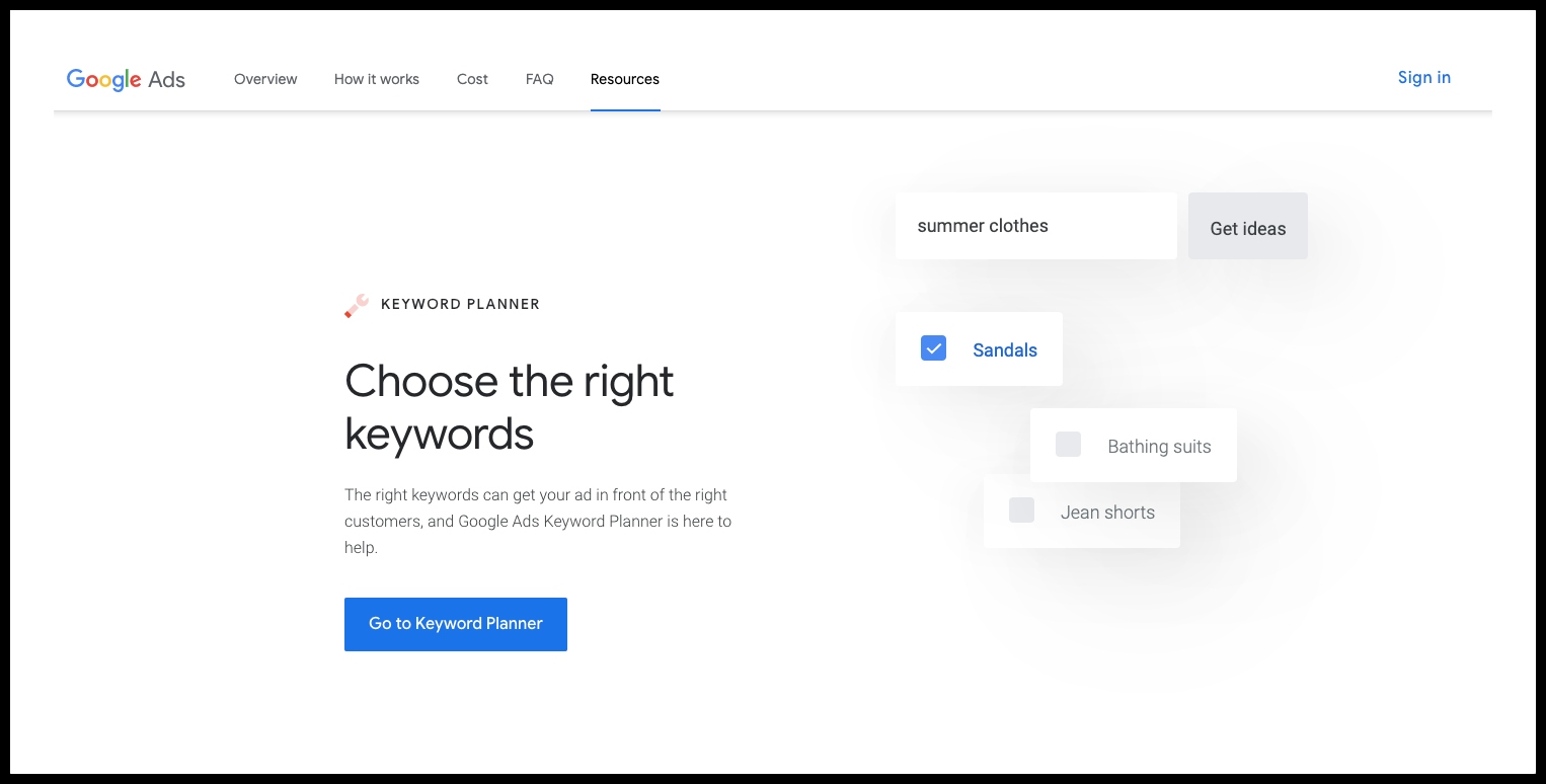 Google keyword planner WordPress SEO Plugin