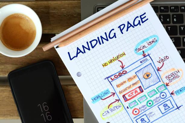 design sketch for landing page